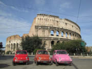 Colosseum, Rome, sightseeing, Fiat 500