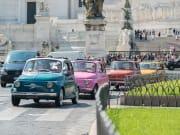 rome tour in Fiat 500