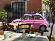 Rome, sightseeing, Fiat 500