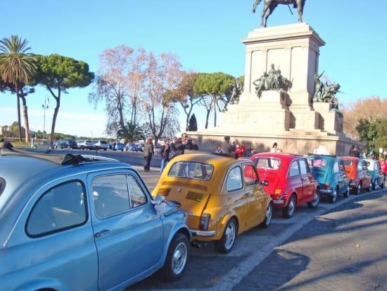 Rome, sightseeing, Fiat 500