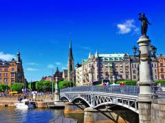 Djurgarden bridge, Sweden, Stockholm Canal