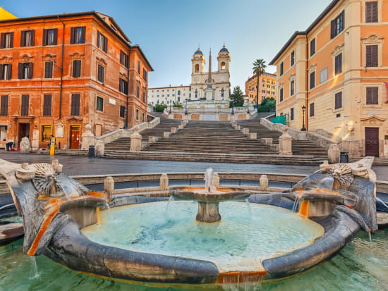 Rome Subway Map To Trevi Fountain Spanish Steps.Rome Spanish Steps And Underground Of Vicus Caprarius Guided Small