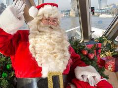 Santa Claus, River Thames, cruise, London