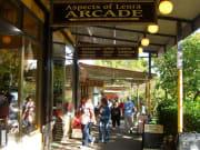 Shops in the mountain village of Leura Australia