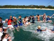 kids enjoying boom netting in australia