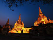 Thailand_Bangkok_Wat_Phra_Si_Sanphet_Temple_Night_Lighting_shutterstock_275569928