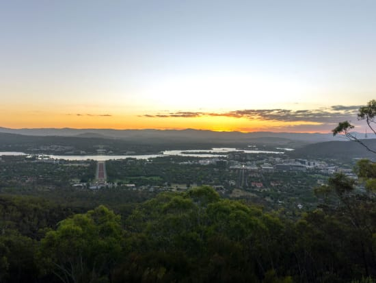 Canberra city view from Mount Ainslie
