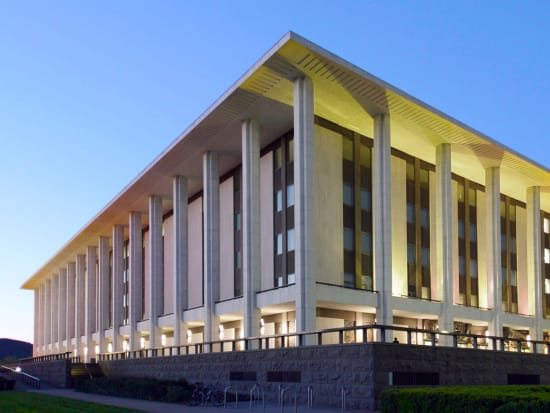 national library in Canberra bright lights