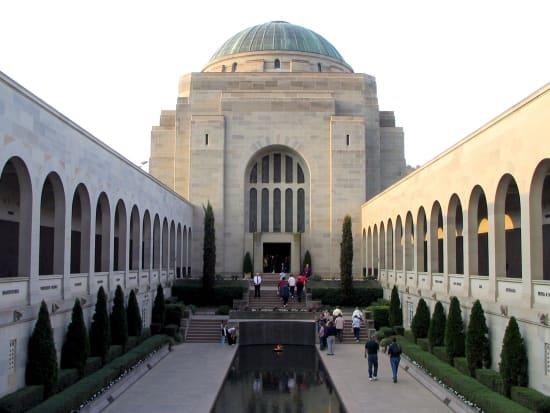 tourists visiting Australian War Memorial Canberra