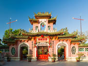 Fujian Assembly Hall Phuc Kien pink entrance