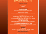 Hard Rock Cafe Lisbon Diamond Menu VT