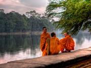 monks Angkor Wat, Siem Reap
