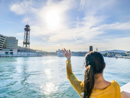 spain, barcelona, boat, cruise, tour
