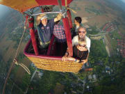 morning hot air balloon flight