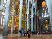 Spain Barcelona Sagrada Familia Gaudi Interior