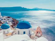 Iconic Santorini landscape