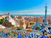 barcelona, spain, park guell, unesco, gaudi
