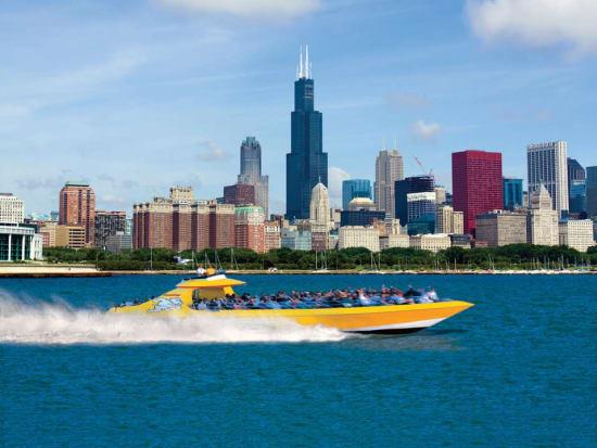 USA_Chicago_Lake Michigan airboat