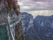 cliff-glass skywalk at tianmen mountain