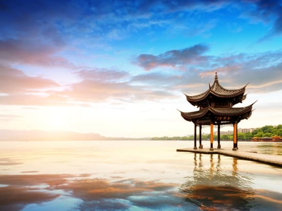 pagoda in the middle of West Lake Hangzhou China