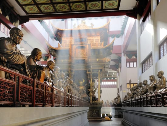 lingying temple hall of the Five Hundred Arhats