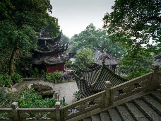numerous pagodas of the Lingyin Temple Hangzhou
