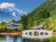 jade spring park, black dragon pool lijiang china