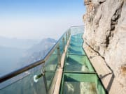 60-meter long cliff-clinging glass skywalk tianmen