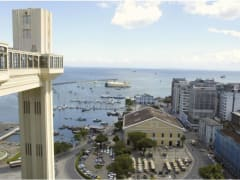 Salvador de Bahia on a panoramic view