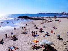 Beach of the bay of Cadiz