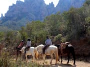 spain, montserrat, monastery, horse, riding, tour