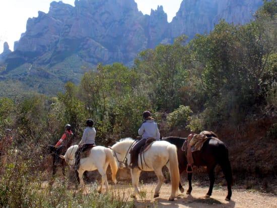 spain, montserrat, monastery, horse, riding, tour