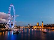 London Eye at night