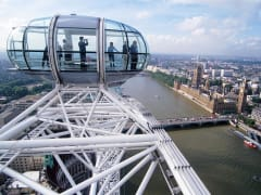 Tourists in London Eye