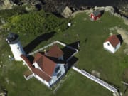 Aerial View of the Nubble Lighthouse