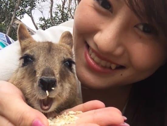 Rina with wallaby - main promo image