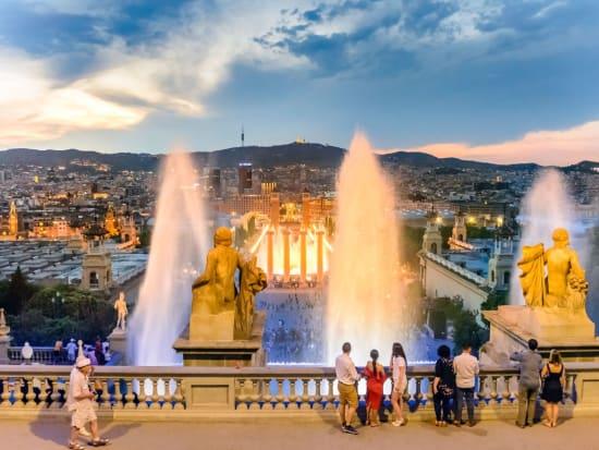 spain, barcelona, skyline, cityscape
