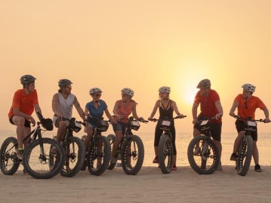 Dubai Beach Sunset E-Fat Bike Tour