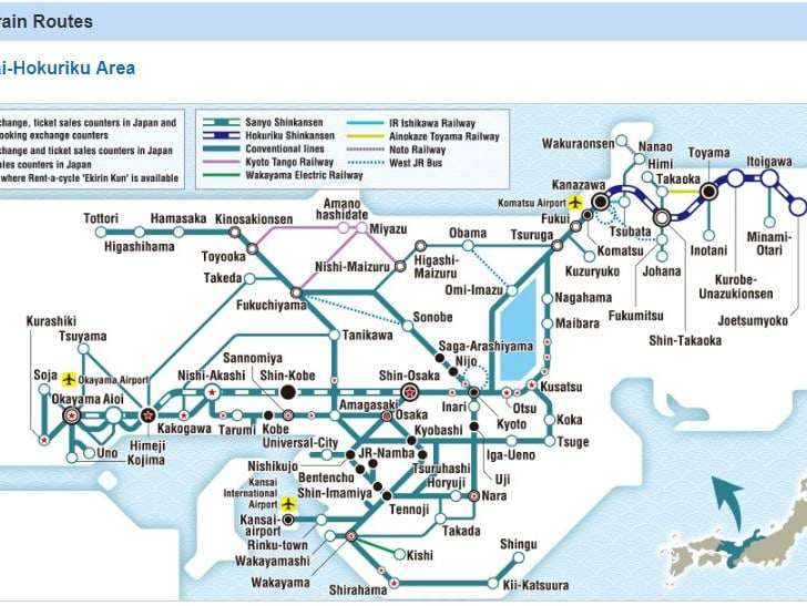 7-Day Unlimited JR Train Pass: Kansai and Hokuriku Instant Confirmation