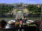 france, paris, eiffel tower, lunch