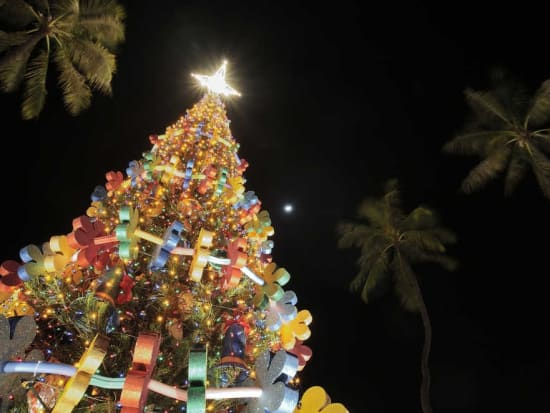 honolulu christmas city lights on trolley or double decker bus from waikiki instant confirmation