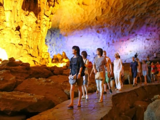 Visiting Sung Sot Cave with Alisa Cruise