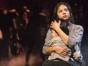 (1) Eva Noblezada and Samuel Li Weintraub in a scene from MISS SAIGON.  Photo by Matthew Murphy