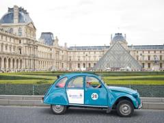Louvre Museum, Paris, citroen 2cv