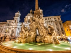 Italy_Rome_Piazza_Navona_Fountain_of_Four_Rivers_Night_shutterstock_199187087