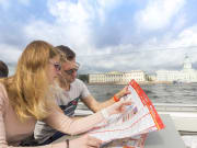 saint petersburg boat cruise travelers and map