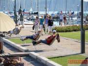 Tourists at Lake Balaton