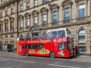 UK, Glasgow, Sightseeing tour, double-decker bus