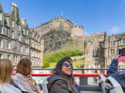 UK, Edinburgh, Edinburgh Castle, Double decker bus