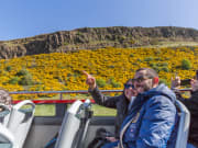 UK, Edinburgh, Arthur's Seat, hop on hop off